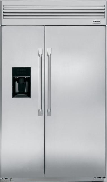 "GE Monogram 48"" professional side-by-side refrigerator ..."