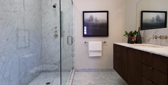 Bianco Carrara Bathroom Contemporary Bathroom San Francisco By Pietra Fina Inc