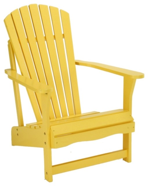 Coastal yellow poplar wood adirondack chair contemporary for Outdoor furniture yellow