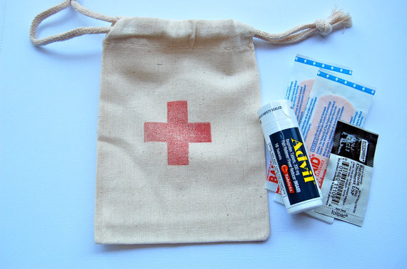 First-Aid Hotel Room Drop Muslin Bags by Little Chicklets traditional-emergency-and-first-aid-kits
