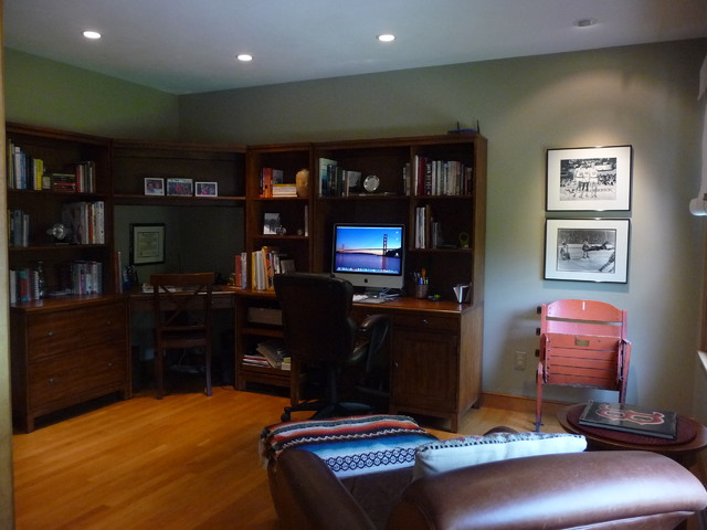 Groton Sports Theme Home Office Traditional Home
