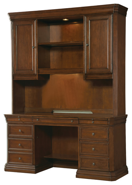 Hooker Furniture Cherry Creek Computer Credenza Hutch 258-10-467 - Transitional - China Cabinets ...