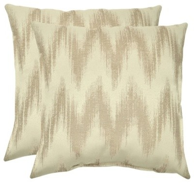 Threshold Outdoor Decorative Throw Pillow Set, Neutral Chevron