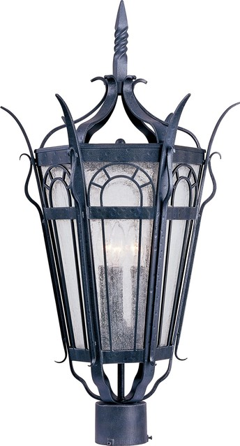 Maxim Lighting Cathedral Traditional Outdoor Post Lantern Light X-FCDC04003 traditional-lighting
