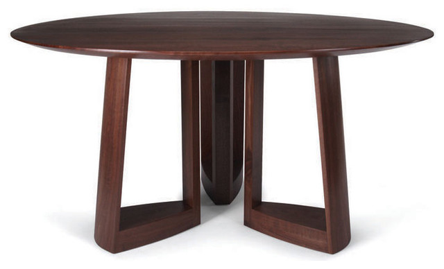 Skram lineground round dining table modern dining for Contemporary round dining table