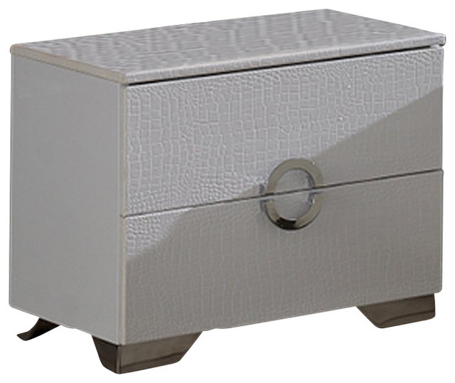 Dupen Coco Nightstand in White - Modern - Nightstands And Bedside Tables - by Cymax