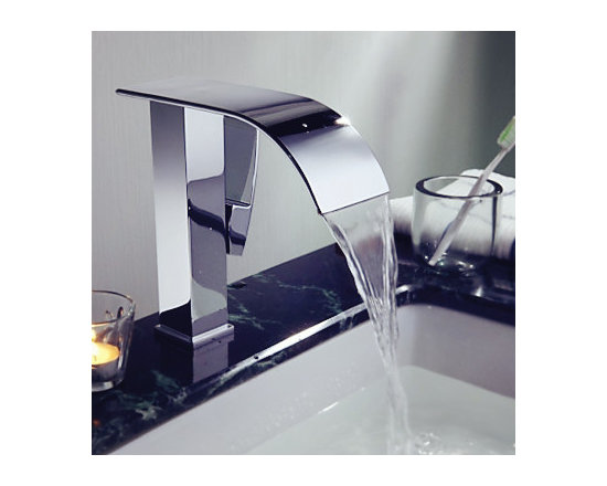 Waterfall Single Hole Lavatory Faucets - Smooth, long lasting, and drip-free operation ceramic disc cartridge