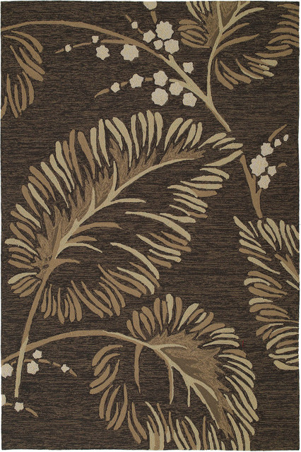 Kaleen Home and Porch Palmyra 2' x 3' Chocolate Rug contemporary-rugs