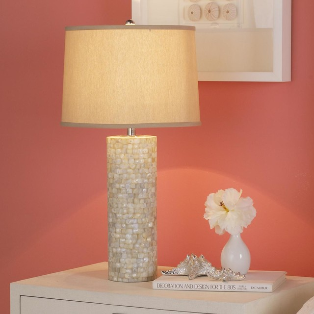 mother of pearl table lamp lamp shades by shades of light. Black Bedroom Furniture Sets. Home Design Ideas