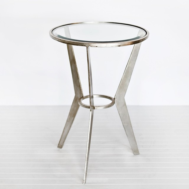 Silver Round Side Table Home Design 2017