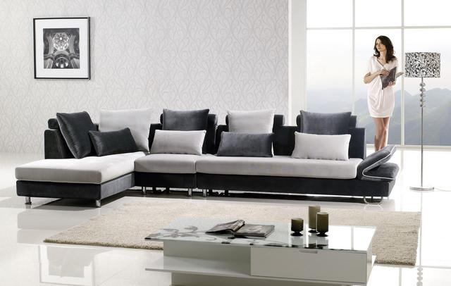 Modern Soft Microfiber Sectional Sofa Chaise Set Unique