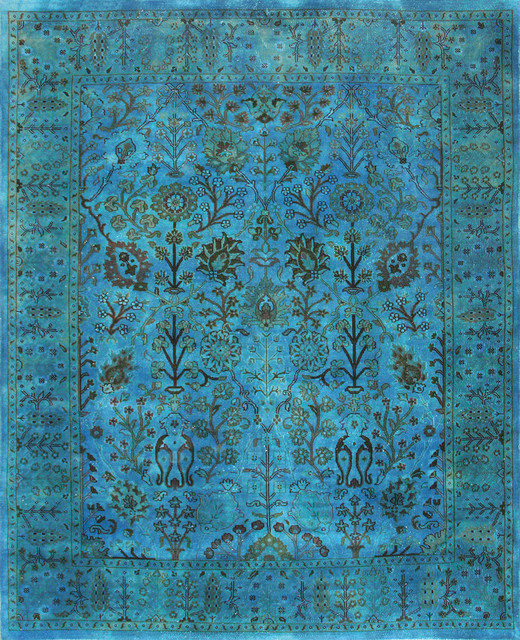 Rugsville Overdyed Turquoise Rug 12208-10x14