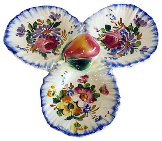 Italian Ceramic Serving Dish traditional-serving-dishes-and-platters