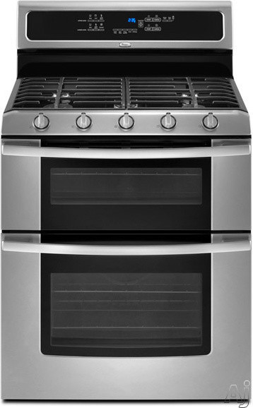 Whirlpool 30-Inch Freestanding Double Oven Gas Range With 5 Sealed Burners eclectic-gas-ranges-and-electric-ranges
