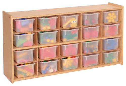 Steffywood Kids Playroom Toy Bin Organizer 20 Tray Cubby Storage Unit - Contemporary - Toy ...