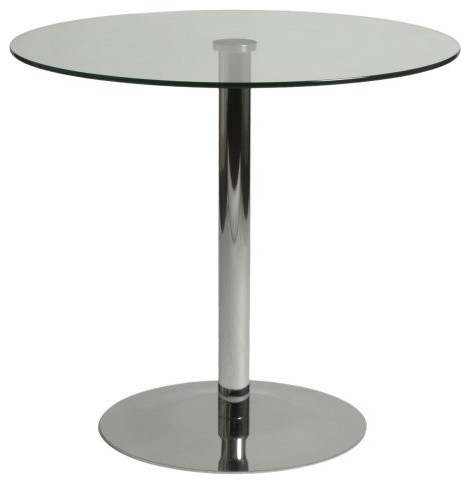 Euro Style Ava Round Glass Top Table contemporary-dining-tables