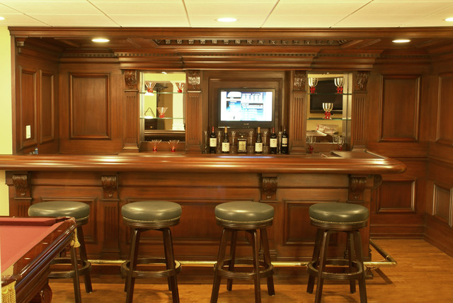 Custom Residential Bar Traditional Home Theater