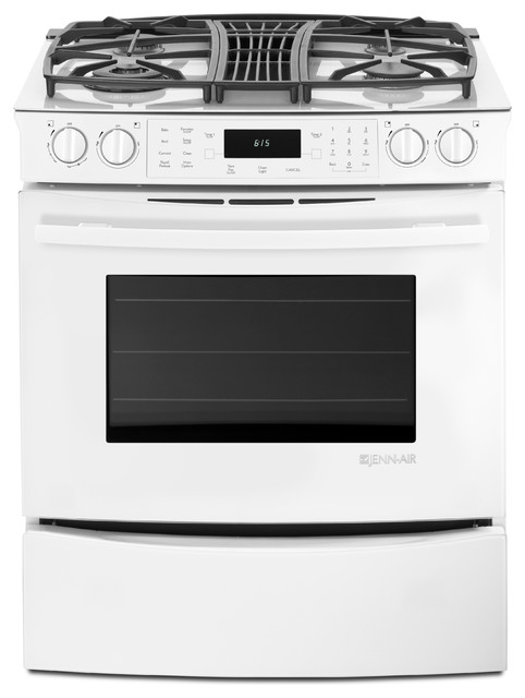 Jenn Air 30 Quot Slide In Gas Downdraft Range Frost White