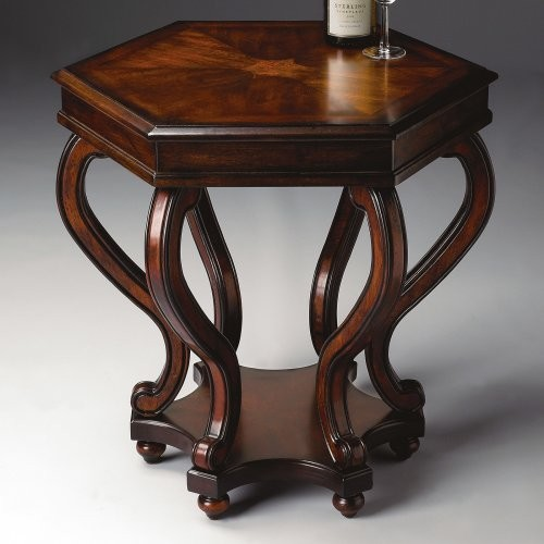 Butler Accent Table 27H in. - Plantation Cherry traditional-side-tables-and-accent-tables