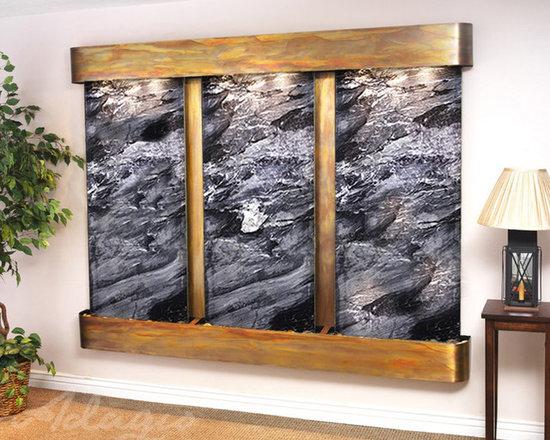 The Deep Creek Falls Indoor Fountains - The Deep Creek Falls Slate Indoor Wall Fountain