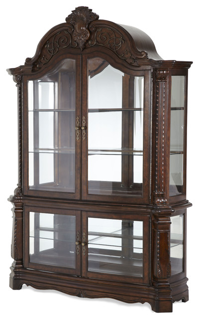 Windsor Court Curio traditional-storage-cabinets