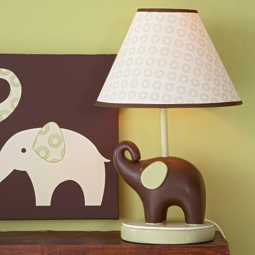 Carters Green Elephant Lamp contemporary nursery decor