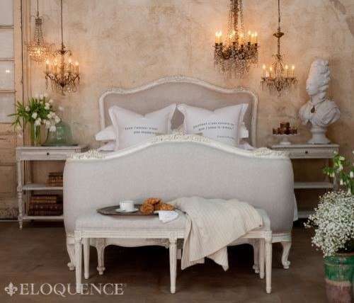 Sophia Non Tufted Headboard In Antique White