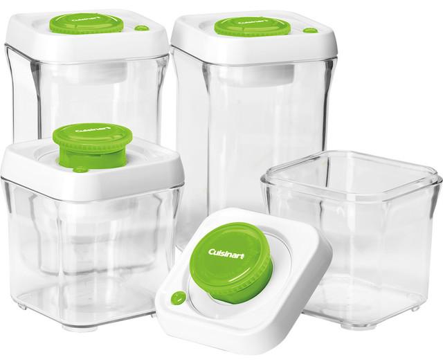 Cuisinart Fresh Edge 8-Piece Vacuum Sealed Food Storage Containers ...