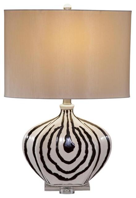 Daktari Zebra Black and Cream Table Lamp table-lamps