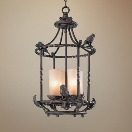 Song Birds Pendant Chandelier traditional-pendant-lighting