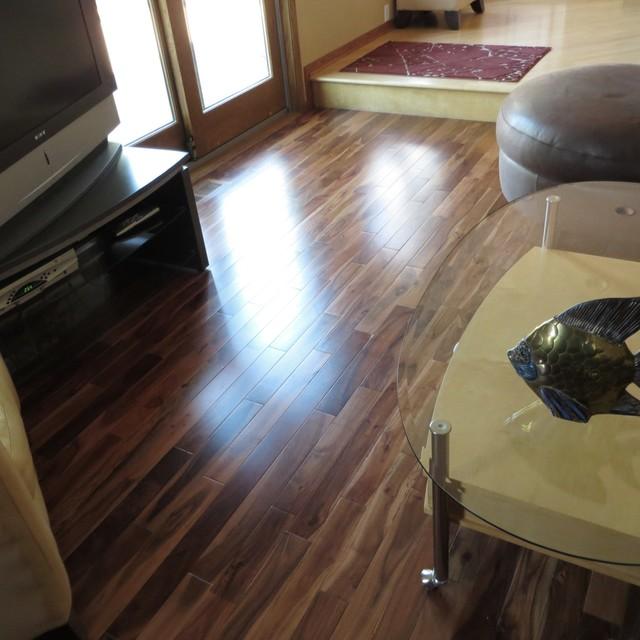 Acacia Walnut Blonde Solid Prefinished Hardwood Wood Floor