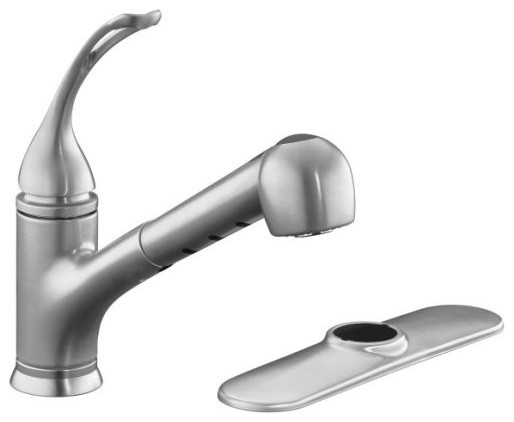 Kohler K 15160 L G Coralais Single Control Pull Out Spray Kitchen Sink Faucet Wi Traditional
