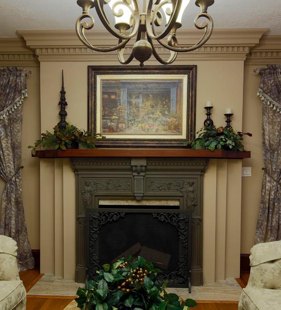 Houzz Living Room Fireplace: Portland Historic Home: Fireplace