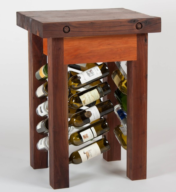 Outdoor Products Furniture Lighting Decor Lawn Amp Garden Fire Hand Made Walnut And Cherry Butcher Description Block Wine Rack