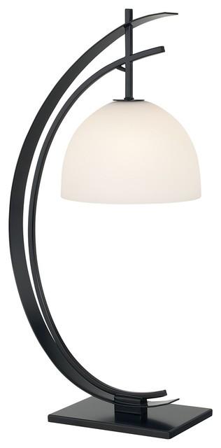 Kathy Ireland Orbit Black Table Lamp Contemporary
