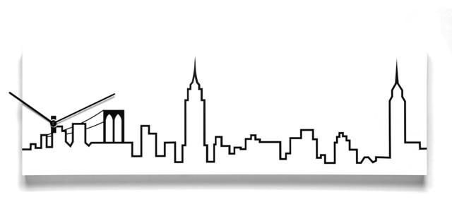 Skyline 1830NY Wall Clock contemporary-wall-clocks
