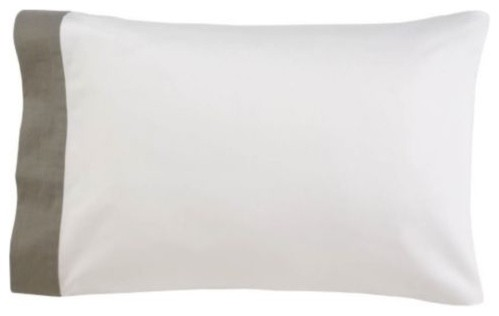 Linen Edge Pillow Case Pair - modern - bed pillows - by Lumens