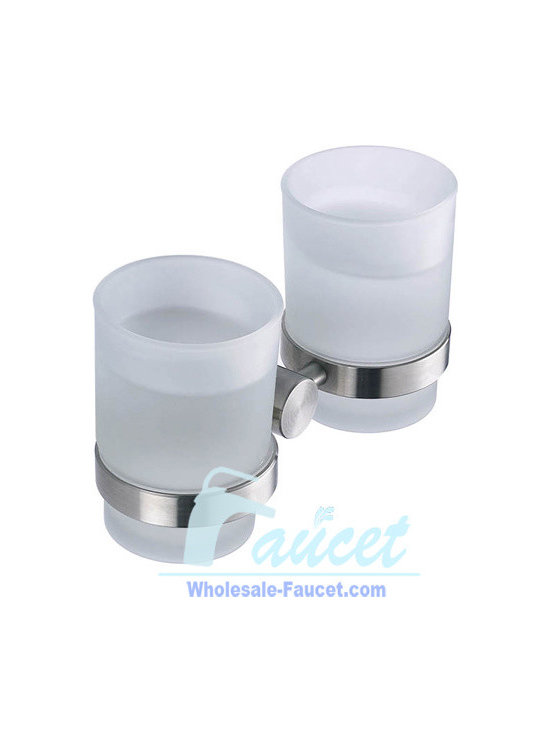 Toothbrush Tumbler Holder - ●Wall Mounted Doulble Stainless Steel Toothbrush Tumbler Holder J-85104