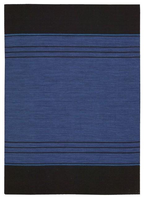 Plateau Woven Bands Contemporary Sapphire Border 4' x 6' Calvin Klein Rug by Rug contemporary-rugs