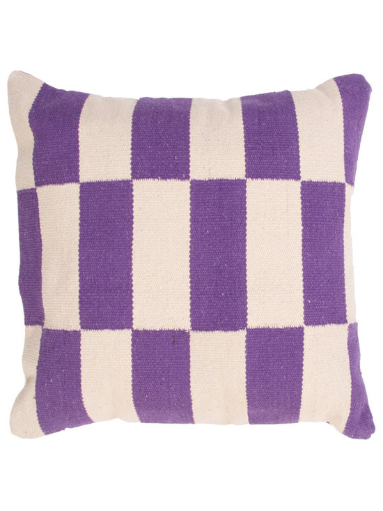 Jaipur - CORSICA Pillow, Purple Set of 2 - Funky range of pillows in poly dupione use rich jewel tones expressed in a highly textural and fun way. Perfect for a touch of retro glamour in your home.