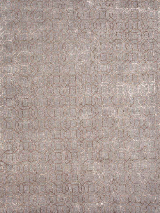 Jaipur Rugs - Transitional Gradation Pattern Blue Wool/Silk Tufted Rug - BQ03 - Uncommon ground: This unique rug is crafted of wool and silk, hand tufted to add a beautifully rich textural interest to your room.