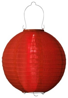 RE Nylon Solar Lantern, Red traditional-outdoor-lighting