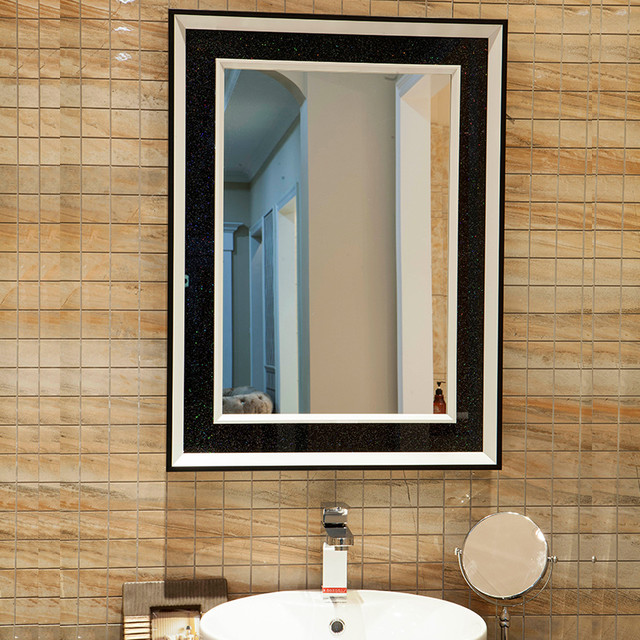 Classic Black White Bathroom Mirrors Contemporary