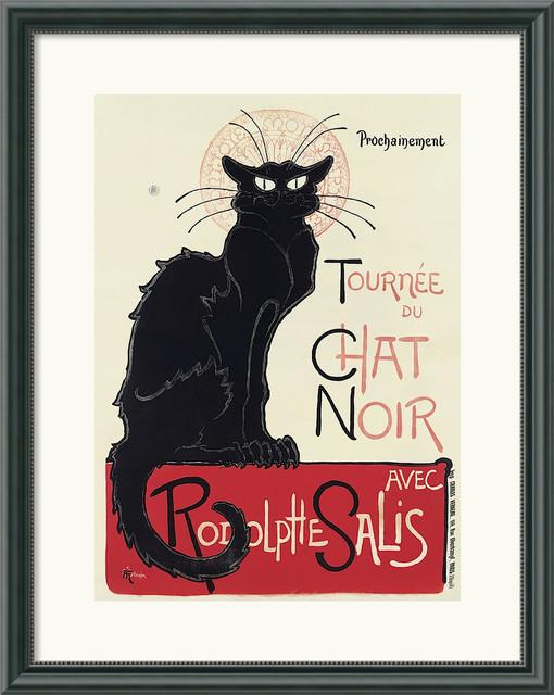 Tournee du chat noir framed poster