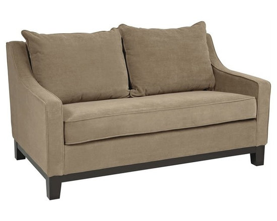 Ave Six Regent Love Seat in Easy Brownstone - The Regent collection features an alluring classic contemporary look that will enhance the decor of any home while providing a higher level of seating comfort for family and guests. From relaxing to watching TV and more, the Regent loveseat by Avenue Six provides roomy comfort for everyone in your household. The plush design makes it the perfect place to unwind after a long day. Its fun, eye-catching look will add a distinct accent to any room in the home. Once assembled, Avenue Six furniture becomes indistinguishable from assembled, high end brands. The Regent collection from Avenue six has it all: form and function combined with an incredibly stylish exterior.