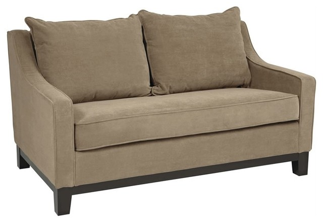 Ave Six Regent Love Seat In Easy Brownstone Contemporary