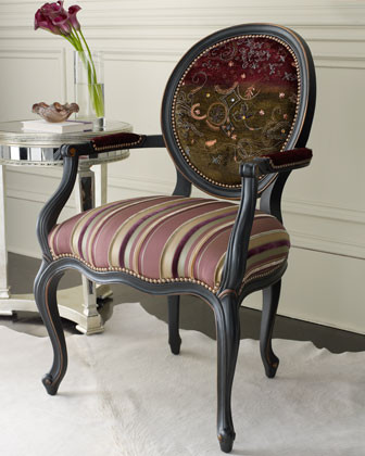 Purple Stripe Chair traditional-living-room-chairs