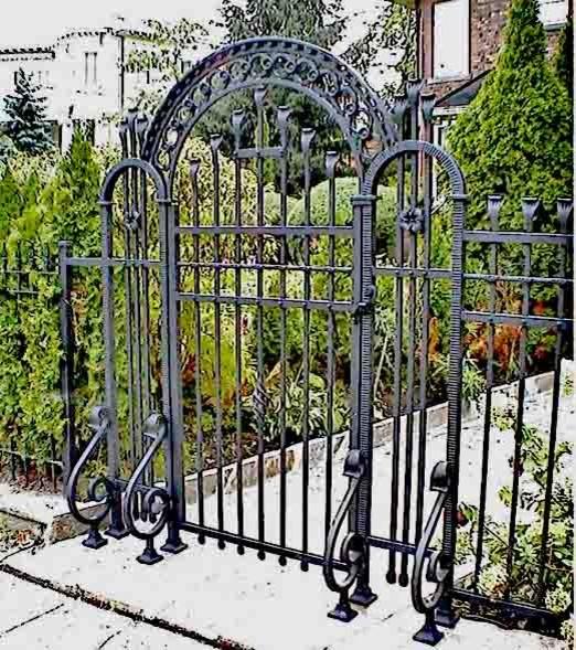 Luxury custom wrought iron gates asian