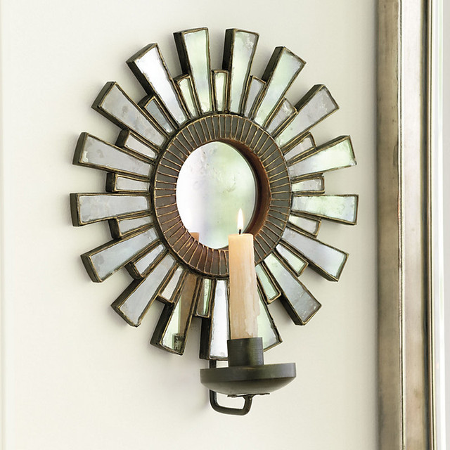 Rosario Sunburst Candle Sconce traditional-candles-and-candleholders