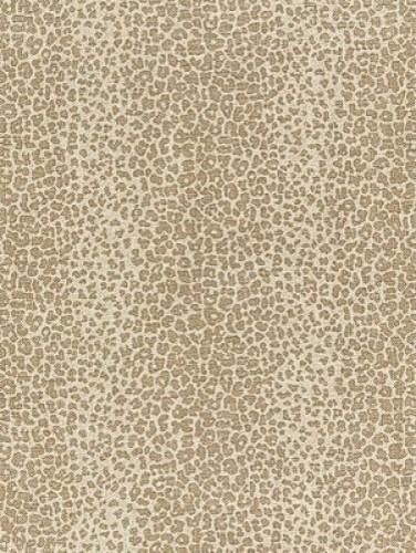 Leopard Linen Print Fabric Sesame Transitional